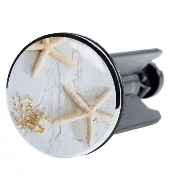 Wash Basin Plug Sea Star Grey