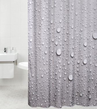 Shower Curtain Dewdrop 180 x 180 cm