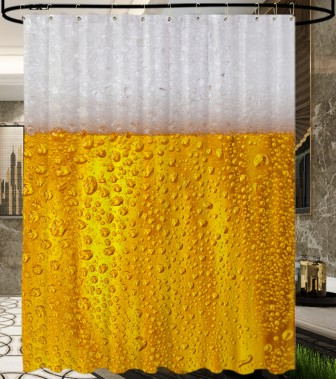 Shower Curtain Beer 180 x 200 cm