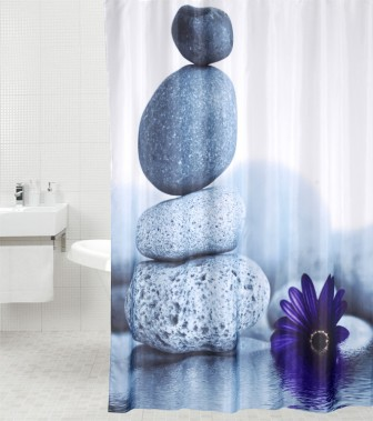 Shower Curtain Energy Stones 180 x 180 cm