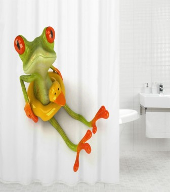 Shower Curtain Froggy 180 x 200 cm
