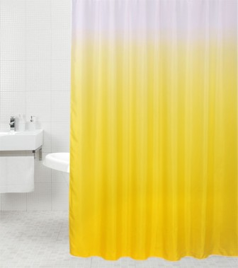 Shower Curtain Magic Yellow 180 x 200 cm