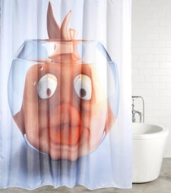 Shower Curtain Goldfish 180 x 200 cm