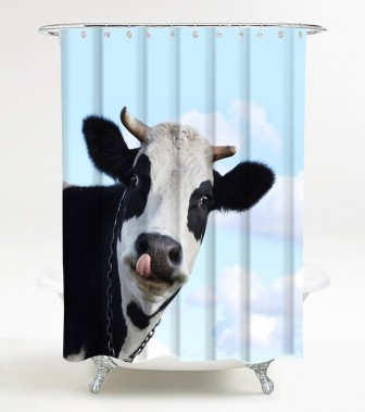 Shower Curtain Cow 180 x 200 cm