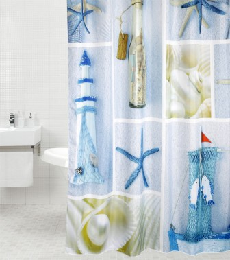 Shower Curtain Sea Breeze 180 X 200 Cm