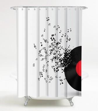 Shower Curtain Play Music 180 x 180 cm