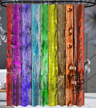 Shower Curtain Rainbow 180 x 200 cm