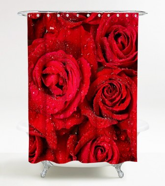 Shower Curtain Roses 180 x 180 cm