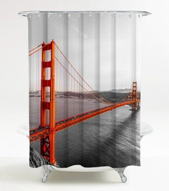 Shower Curtain San Francisco 180 x 200 cm