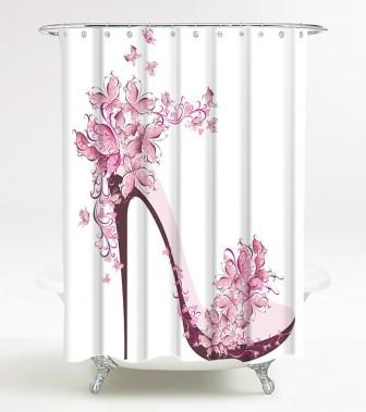 Shower Curtain Shoe 180 x 200 cm