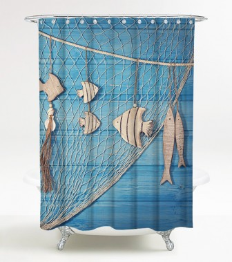 Shower Curtain Seafaring 180 x 200 cm