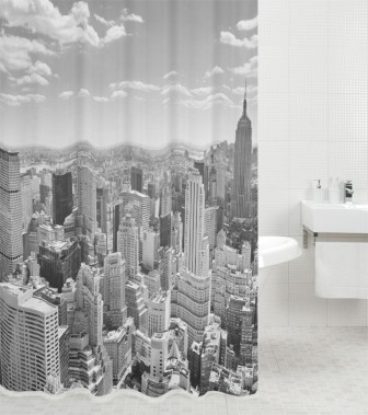 Shower Curtain Skyline New York 180 x 180 cm