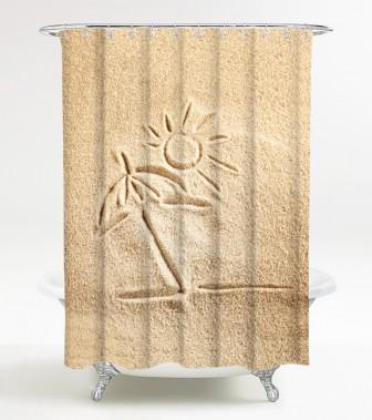 Shower Curtain Sunshine 180 x 200 cm