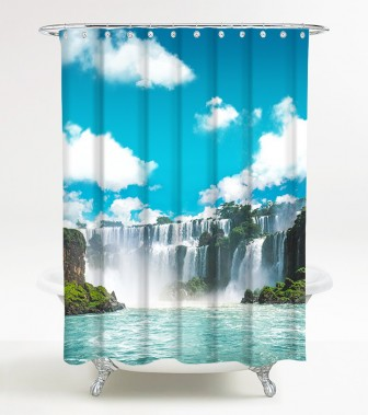 Shower Curtain Waterfall 180 x 200 cm