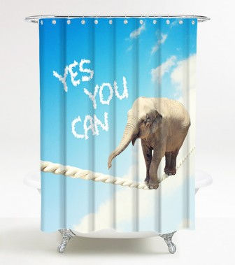 Shower Curtain Yes you can 180 x 200 cm