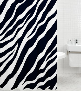 Shower Curtain Zebra 180 x 200 cm