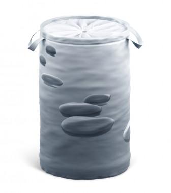 Laundry Basket Black Stones