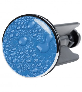 Wash Basin Plug Water Pearls Blue