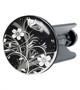 Wash Basin Plug White Flower