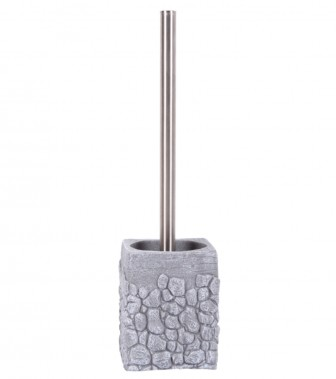 Toilet Brush and Holder Grey Stone