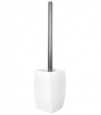 Toilet Brush and Holder Wave White