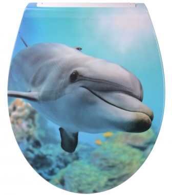 Soft Close Toilet Seat Flat Dolphin