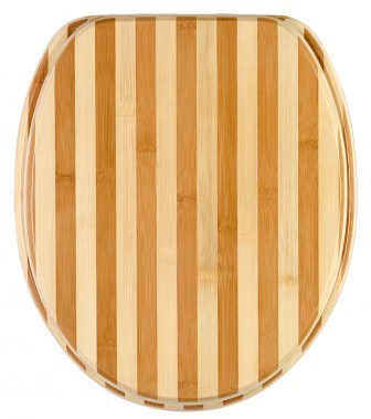 Soft Close Toilet Seat Bamboo Striped