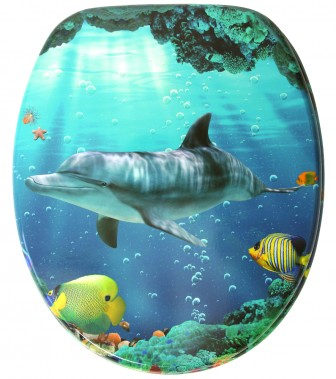 Soft Close Toilet Seat Dolphin