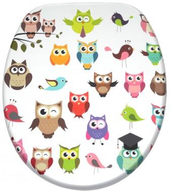 Soft Close Toilet Seat Owl