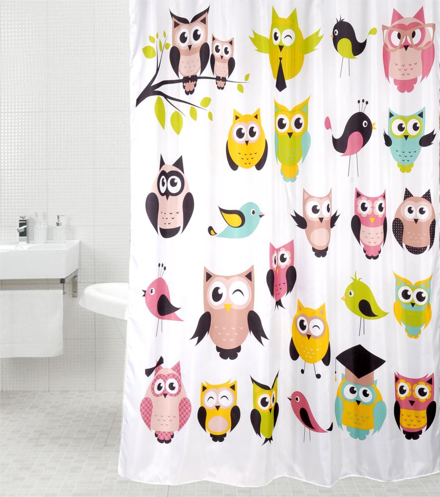 Shower Curtain Owl 180 X 200 Cm