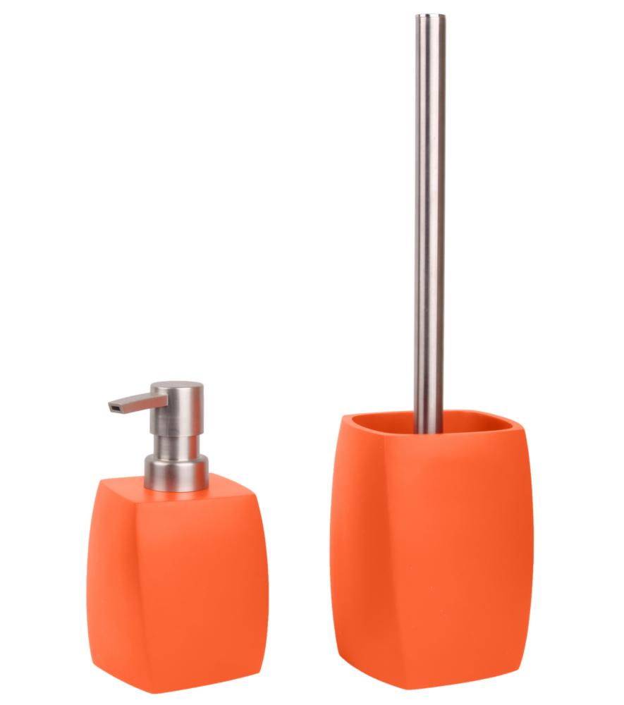 bathroom set wave orange. Black Bedroom Furniture Sets. Home Design Ideas