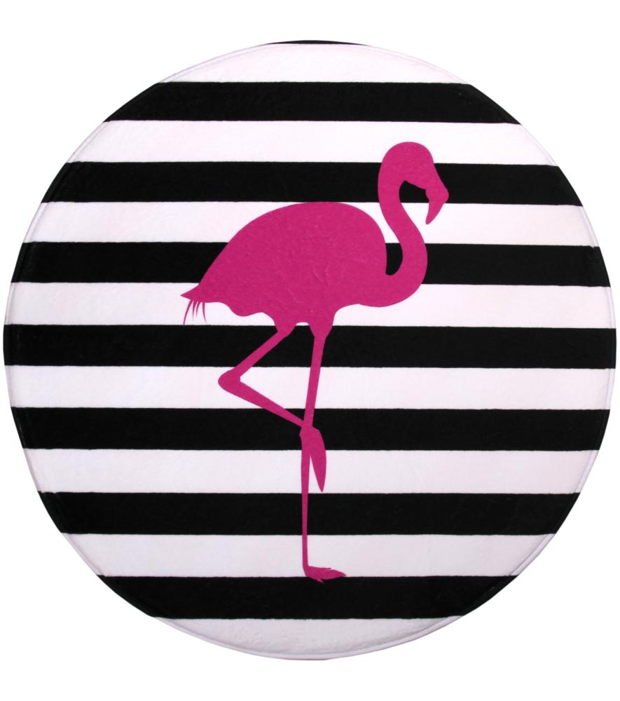 Bath Rug Round Flamingo 80 Cm