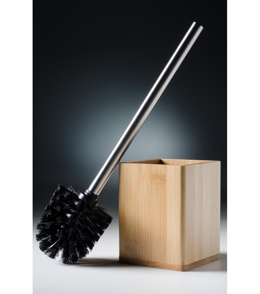 Toilet Brush And Holder Bamboo