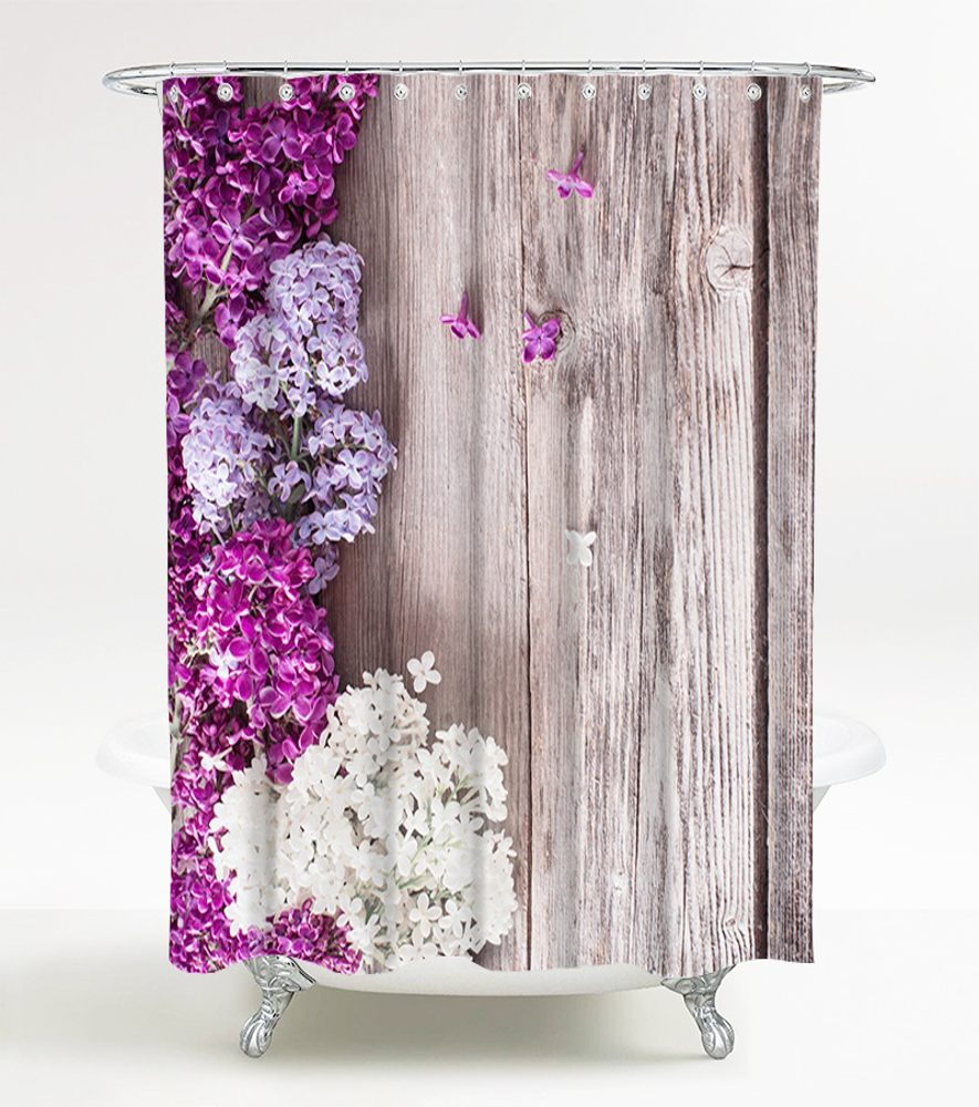 Shower Curtain Lilac 180 X 180 Cm