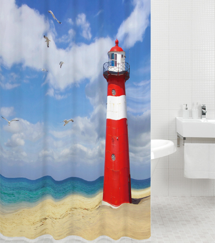 Shower Curtain Lighthouse 180 X 200 Cm