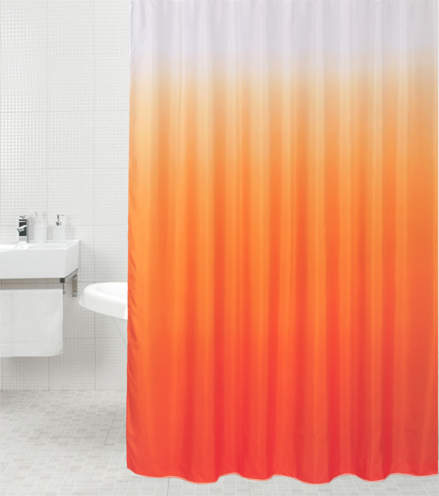 Shower Curtain Magic Orange 180 X 200 Cm