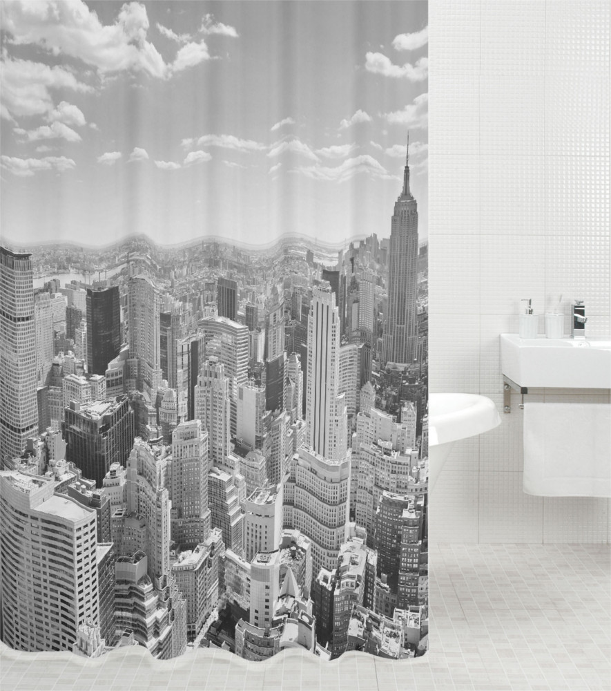 Shower Curtain Skyline New York 180 X 200 Cm