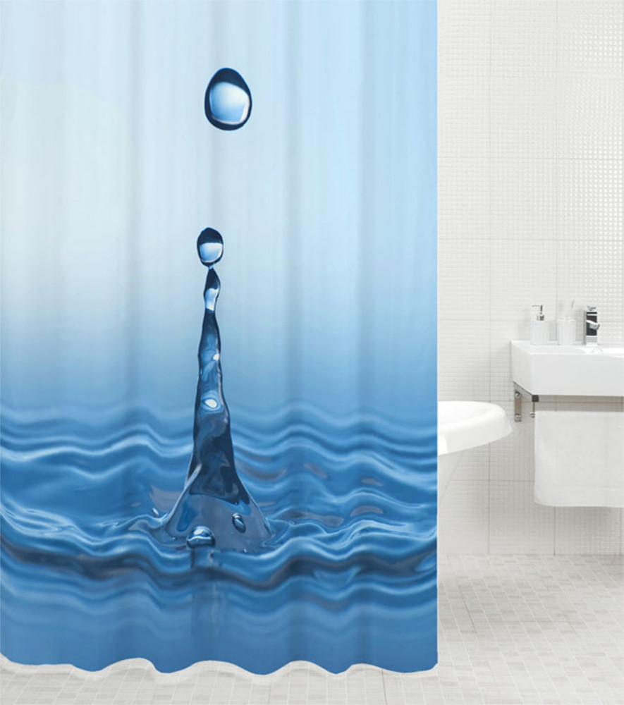 Shower Curtain Water Drop 180 X 200 Cm