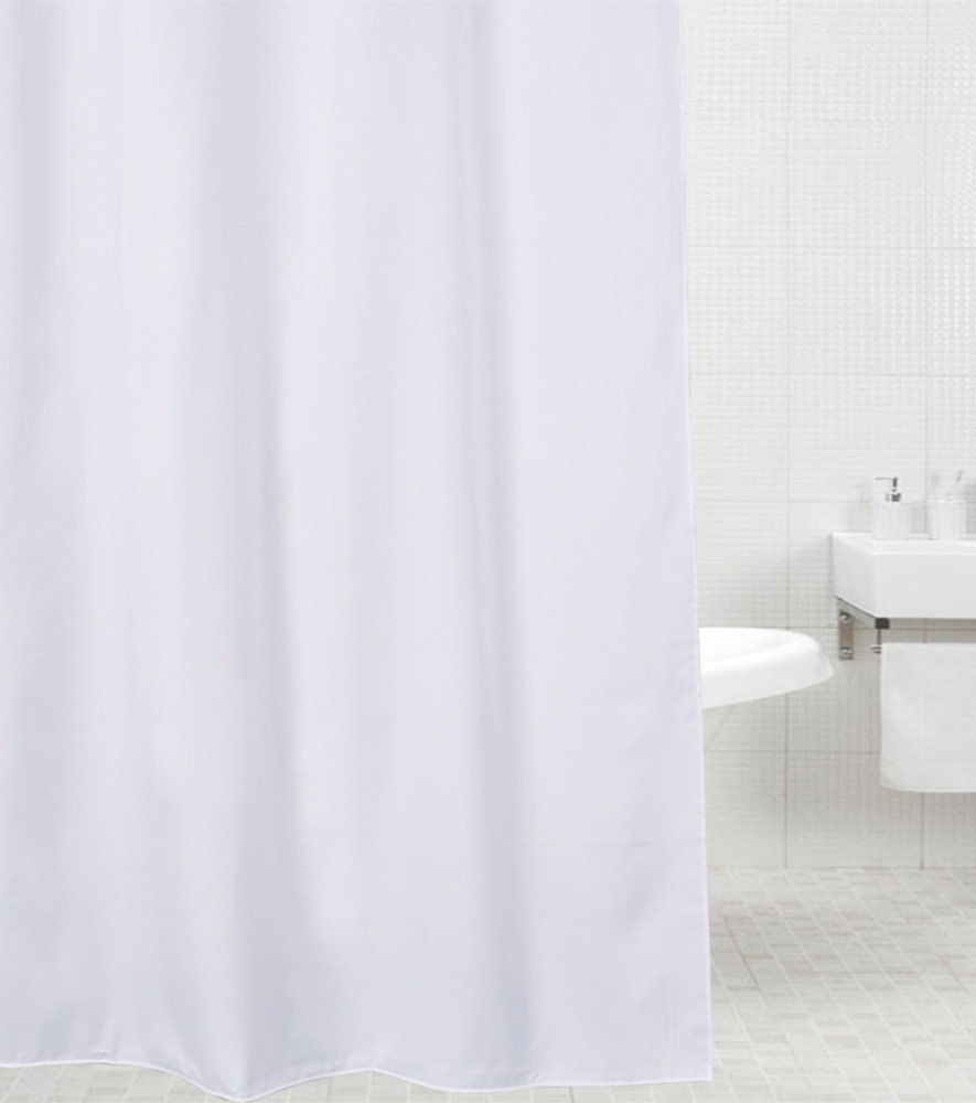 Shower curtain white 180 x 200 cm for Schlafsofa 200 x 180