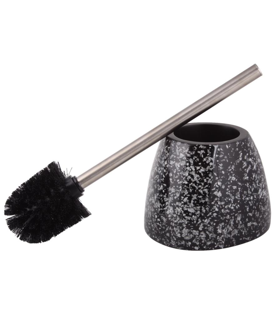 toilet brush and holder glittering black. Black Bedroom Furniture Sets. Home Design Ideas