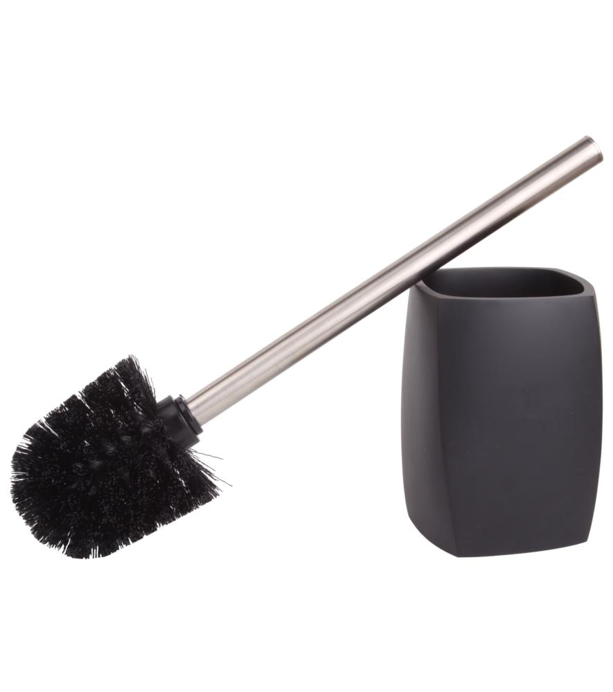 toilet brush and holder wave black. Black Bedroom Furniture Sets. Home Design Ideas