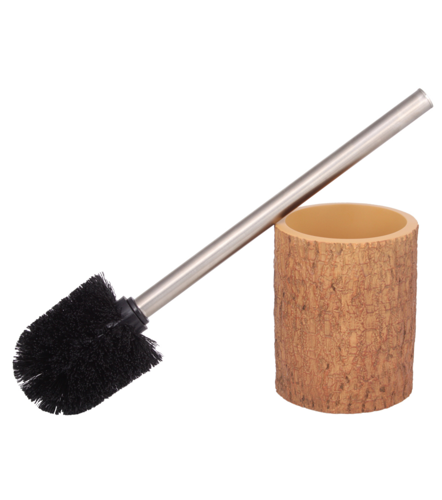 toilet brush and holder bark. Black Bedroom Furniture Sets. Home Design Ideas