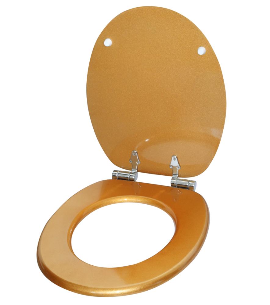 Soft Close Toilet Seat Glittering Gold