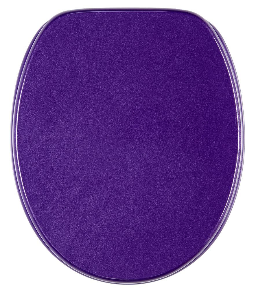 Close Toilet Seat Glittering Purple - Blue soft close toilet seat
