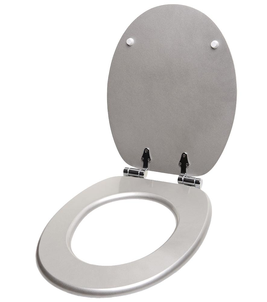 soft close toilet seat glittering silver. Black Bedroom Furniture Sets. Home Design Ideas
