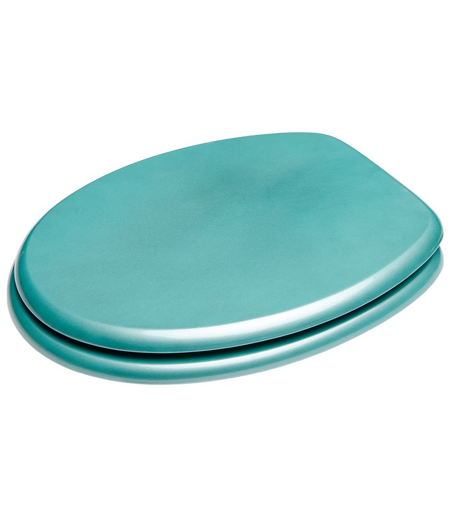soft close toilet seat glittering turquoise. Black Bedroom Furniture Sets. Home Design Ideas