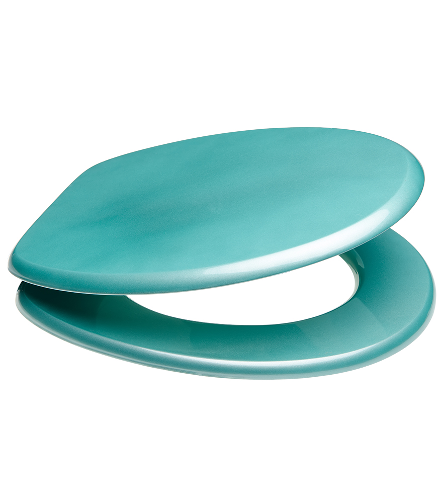 Soft Close Toilet Seat Glittering Turquoise