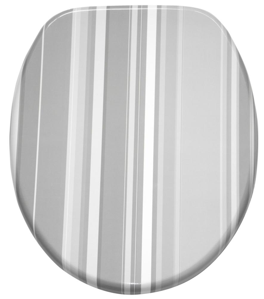 soft close toilet seat grey stripes. Black Bedroom Furniture Sets. Home Design Ideas