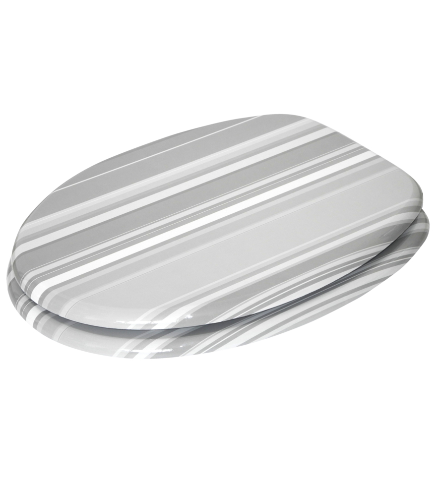 Fine Soft Close Toilet Seat Grey Stripes Short Links Chair Design For Home Short Linksinfo