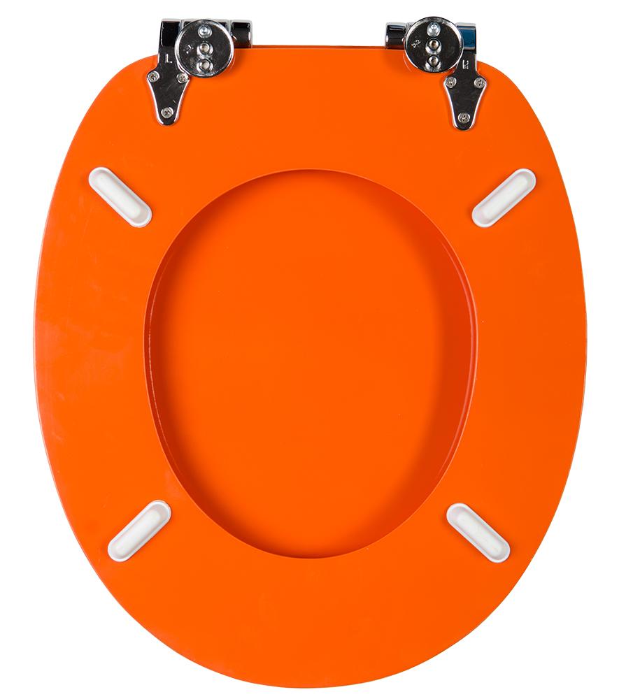Soft Close Toilet Seat Orange